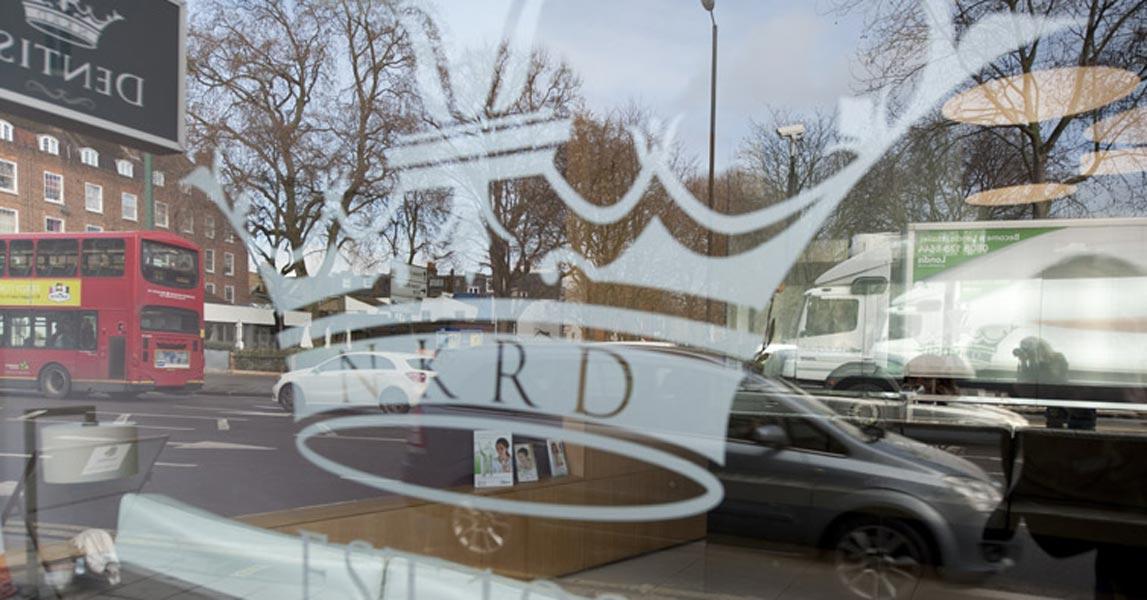 Window Graphics - Dentist in New Kings Road - London