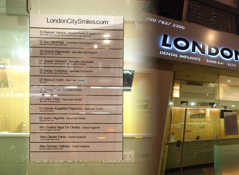 Sign Design & Windows - London City Smiles