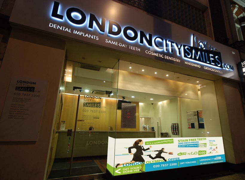Sign Design & Windows - London City Smiles