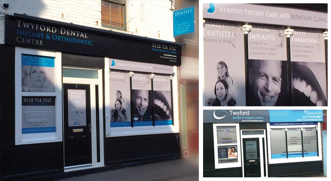 Signage Design - Twyford Dental in Reading