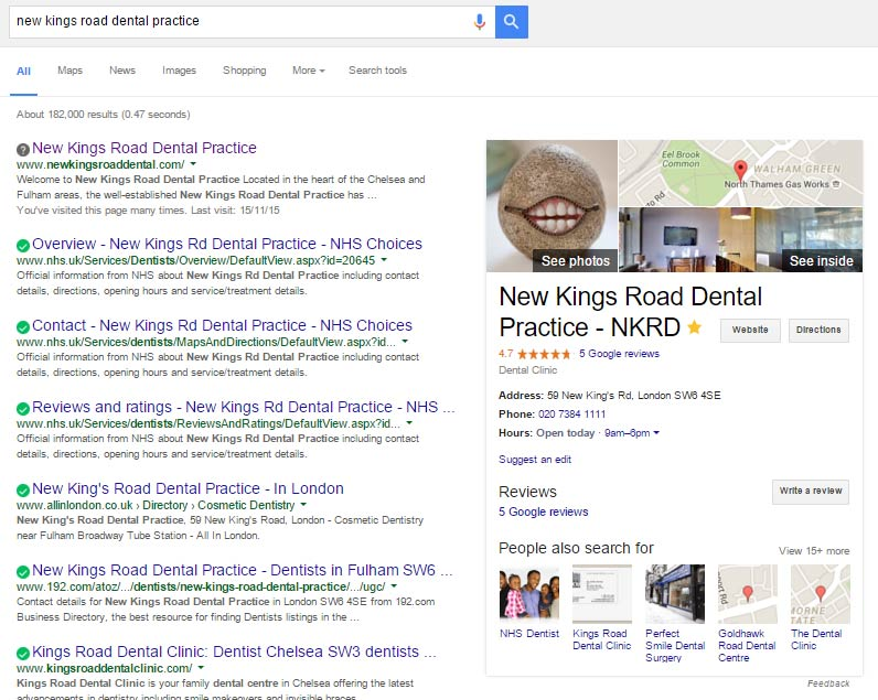 NKRD Google Business Page